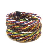 Fair Trade Wax Cord Adjustable Thai Wristband Classic Handcrafted Bracelet - $6.75