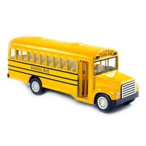 """5"""" Die Cast Long-Nose School Bus with Pull-Back Action - $8.09"""