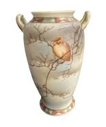 Hand Painted Porcelain Vase Owl Tree Nippon? - $35.00