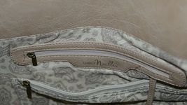 Simply Noelle HB1126A Birch Style Tan Taupe Floral Embossed Womens Purse image 7