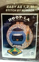 Hoop-la Soup Kettle Wall Hanging RARE Vintage Stitch By Number Kit New S... - $22.75