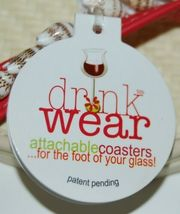 Carrie And Company 2 Coaster Set Drink Wear Red Tan Shells Sandal image 5