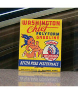 Vintage Matchbook V5 Washington Chief Polyform Gasoline Running Indian N... - $62.99
