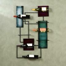 Southern Enterprises Metal Wall Sculpture Wine Storage in Multi-Color - £55.66 GBP