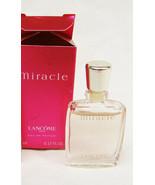 Miracle mini bottle 5 ml 0.17 fl oz EDP perfume in box Lancome - $7.87