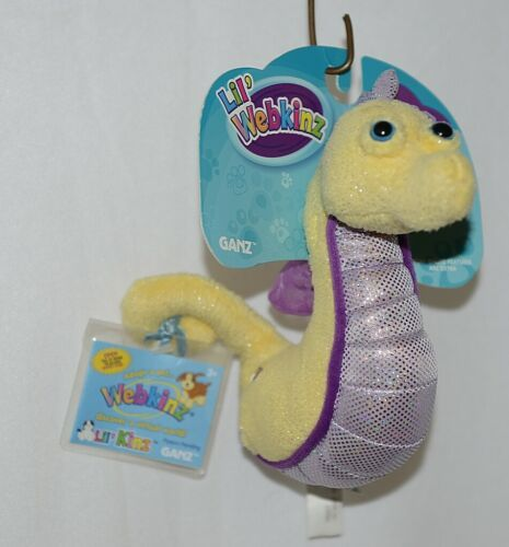 GANZ Brand Lil Webkinz HS507 Collection Purple Yellow Color Seahorse