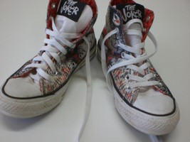Converse White/Orange Chuck Taylor Dc Comics Joker Hi Top Shoes Mens 4/Womens 6 - $30.86