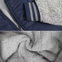 Vertical Sport Men's Sherpa Fleece Lined Two Tone Zip Up Hoodie Jacket image 15