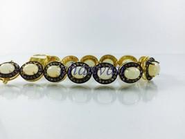 Antique Vintage INSP 3.0Ct Rose Cut Diamond 925 Silver Tennis Bracelet C... - $756.00