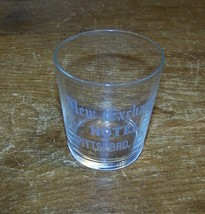 VINTAGE NEW EXCHANGE HOTEL ADVERTISING SHOT GLASS PITTSFORD NY - $9.89