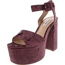 Steve Madden Women's Soar Platform Sandals, Purple Velvet, 9.5 M - $29.79