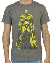 Dc Comics - Batman - Gray - Dark Knight - T-SHIRT - Large - New - Justice League - $13.49