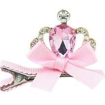 Set Of 2 Elegant Imperial Crown Side Clips Hair Pins Hair Accessories(Pink)