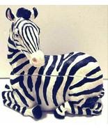 Bradford Ceramic 2-Piece Zebra Table Piece Dish Decoration - $44.99