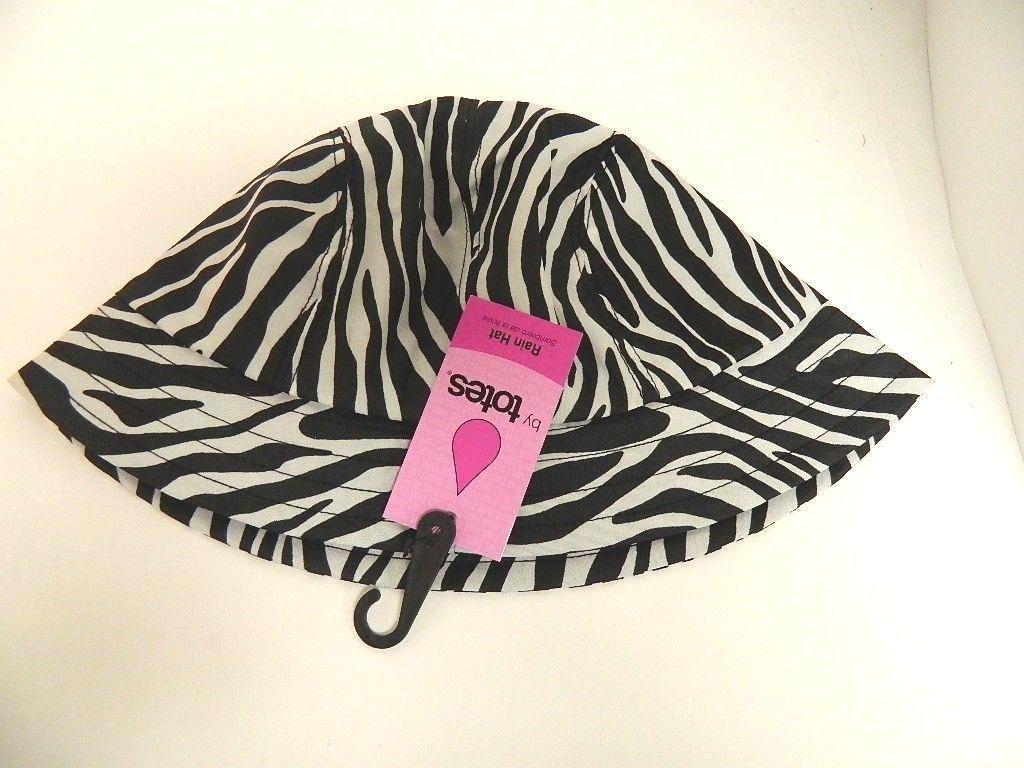 Totes Womens Bucket Rain Hat - Zebra Print - and 50 similar items cc23f7359e82