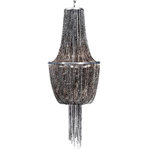 "AM11502: Gorgeous Industrial-Chic Black Chain Chandelier (30""-42"" H) $1,... - $1,295.00"