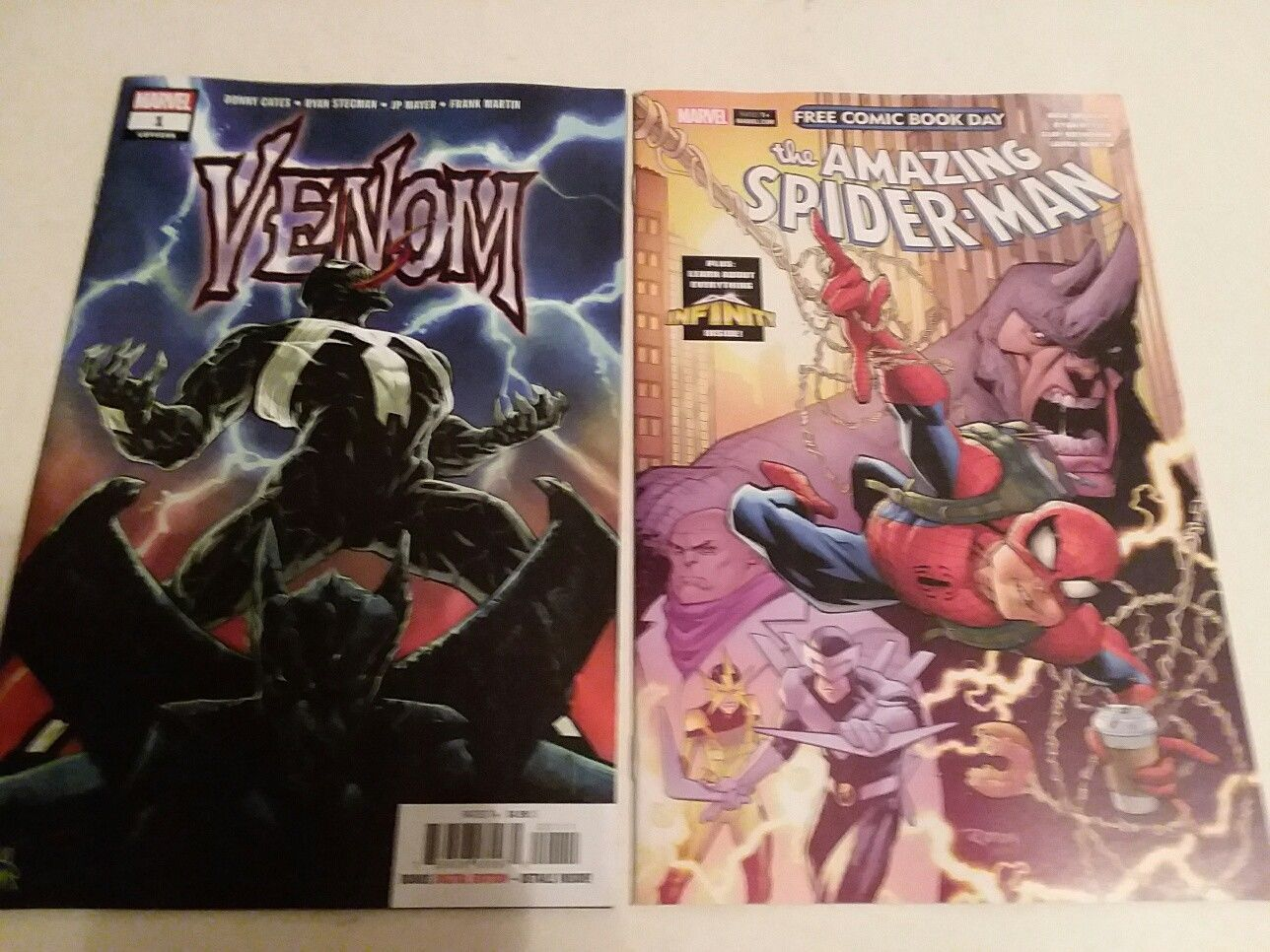 Primary image for VENOM #1 AND AMAZING SPIDER-MAN FCBD 2018 - DONNY CATES - FREE SHIPPING