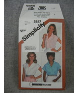 Shirts Button Front Semi Fitted 3 variations Misses 16-20 Simplicity 58... - $8.00