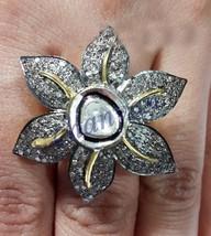 Polki Vintage Style 2.20Ct Rose Cut Diamond 92.5% Silver Ring CSJUK227 - $14.052,38 MXN