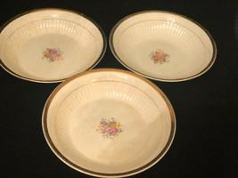 Vintage Royal Etched Gold 22 K Gold Vegetable Bowls Brotherhood Operativ... - $28.83