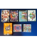 Lot Of 6 THE SIMS Deluxe plus Expansions Bon Voyage Roller Coaster Vacat... - $29.69