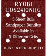 RYOBI EOS2410NHG - 1/4 Sheet - 17 Grits - No-Slip - 5 Sandpaper Bulk Bun... - $7.14