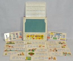 Vintage 1972 Fisher Price School Days Desk Alphabet Tray And Stencils 03... - $14.85