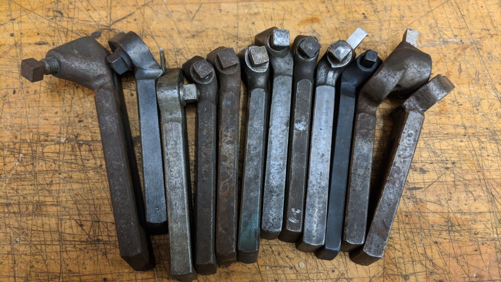 12 ASSORTED METAL LATHE LANTERN TOOL POST BIT HOLDERS ARMSTRONG JH WILLIAMS
