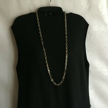 "Vintage 1980's Necklace Plus Size BrassTone 36"" Link Chain - $11.10"