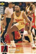 1994-1995 Upper Deck Collector's Choice Card Andrew Lang #228 Atlanta Hawks - $1.97
