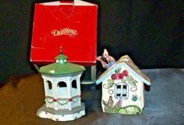 House Village (Candle Holders) AA20-2061 Vintage Pair image 8