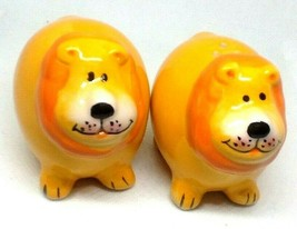 Ceramic Pottery Salt Pepper Shaker Lion Cruet Set Original Stopper  - £9.36 GBP