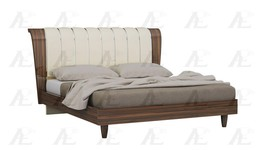 American Eagle P101-BED-EK Ivory Brown Rosewood King Size Bedroom Set 2Pcs - $1,893.00