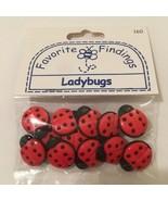 Vintage Ladybug Buttons Blumenthal Lansing Co shank - $7.95
