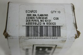 Edison ECNR20 Dual Element Time Delay Class RK5 Fuse Pack of 5 Fuses image 2