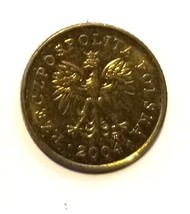 Poland 1 grosz Coin y276 2004 - $0.50