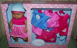 My Sweet Love Ethnic Baby Doll with 3 Outfits Playset NWT - $21.29
