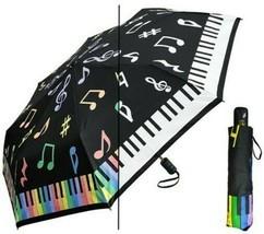 Color Changing Umbrella PIANO Super Mini 44 Inch Auto Open Rain Sun w/ Case - $31.00