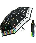 Color Changing Umbrella PIANO Super Mini 44 Inch Auto Open Rain Sun w/ Case - $31.00