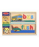 Kids Wooden Spelling Picture Learning Letters Vocabulary Sorting Prescho... - $39.10