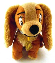 "Disney Lady from Lady & the Tramp Spaniel Dog Puppy Bean Bag Plush 6.5"" ... - $9.89"