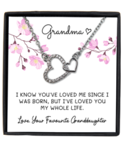 Interlocking Interlocking heart Necklace for Grandmother from Grandchild, Mom  - £18.28 GBP