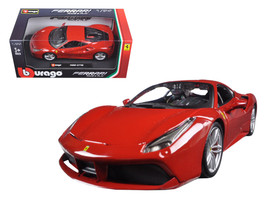 Ferrari 488 GTB Red 1/24 Diecast Model Car by Bburago - $35.89