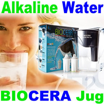 Biocera Water Filter Pitcher Alkaline Anti Oxidant water filter jug  2 C... - $107.81