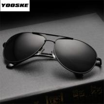 Occhiali da Sole Polarizzati Aviator da Uomo da Pilota Sunglasses Nero Black - $10.70