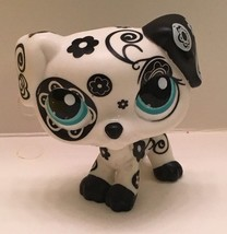 Littlest Pet Shop Dog Dalmatian Black & White W Blue Eyes Rescue Tails #1613 - $24.99