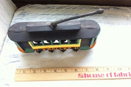 Reproduction?/Maybe of Vintage Cast Iron Toy Painted Trolly Car No. 14 - $8.98