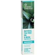 Desert Essence Natural Tea Tree Oil and Neem Toothpaste Wintergreen - 6.25 oz - $11.96
