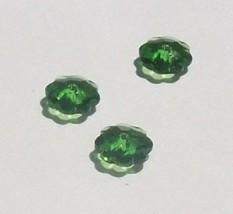 Swarovski Crystal Bead SPACER 3700  marguerite lochrose flower Fern green - $3.47+