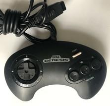 ☆ Official Sega Genesis 3 Button White Text Controller MK-1650 Tested Wo... - $14.99